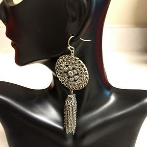 EUC Silver Color Boho Earrings